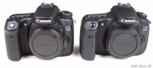 Canon 60D Canon 70D Vergleich Front
