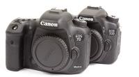 Canon EOS 7D Mark II Canon EOS 70D Body Gehäuse Vergleich Compa