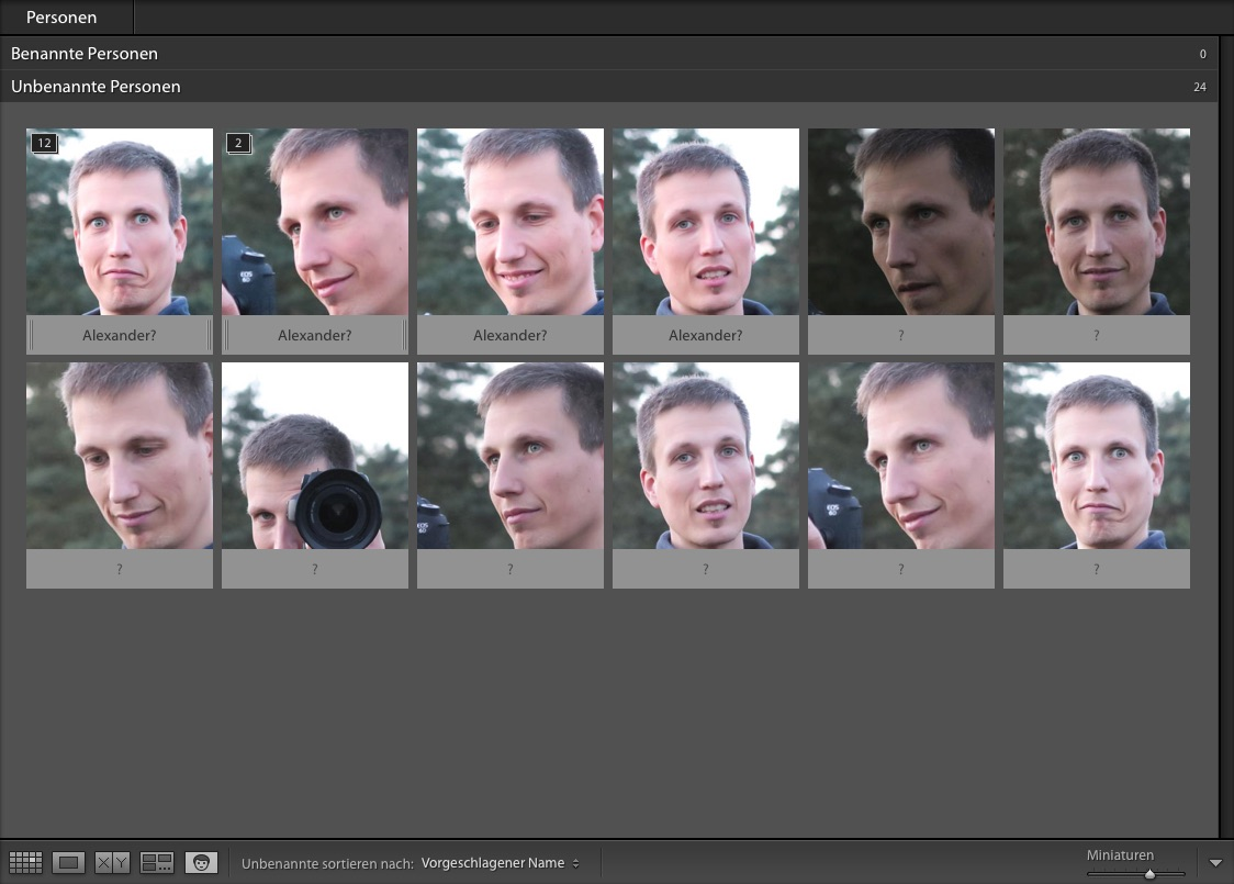 Lightroom Gesichtserkennung