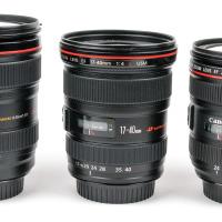 Vergleich Canon EF 24-70mm 4 L IS USM Objektiv 24-205mm 17-40mm